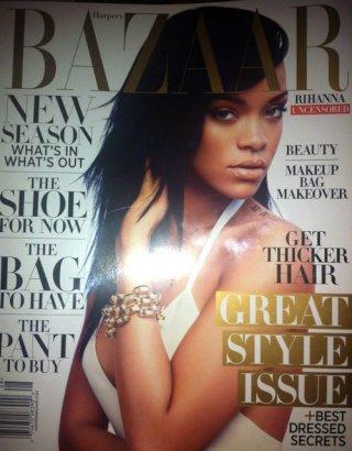 "Rihanna en couverture du ""Harper's Bazaar"" magazine (UK) Août"