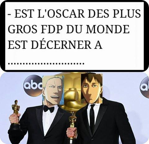 (shingeki no kyojin) L'Oscar est décerné à..