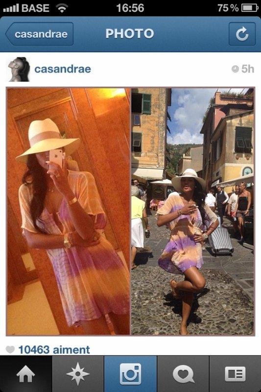 cassie etait en Italie pour ses vacances :))