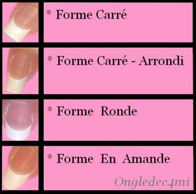 Les principales formes d 39 ongles ongledec4mi - Forme des ongles ...