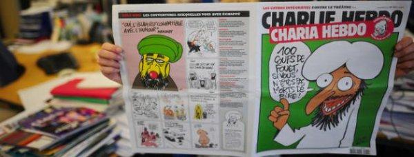 """Charlie Hebdo détruit par un """"attentat"""". Les islamistes intégristes montrés du doigt."""