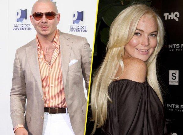 Clash: Pitbull : c'est maintenant lui qui attaque Lindsay Lohan !