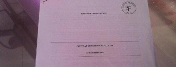 EXCLU: Voici le contrat de vente de la société Miss France et le détail des sommes versées