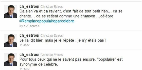 Christian Estrosi: Il cite Claude François sur son compte tweeter