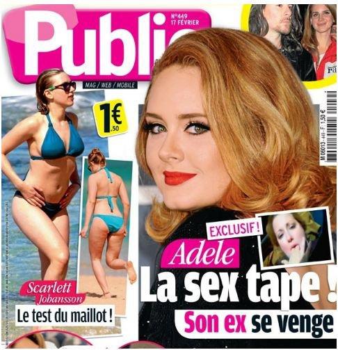 Adèle: Une sextape de la chanteuse diffusée sur le net et dans le magazine Public