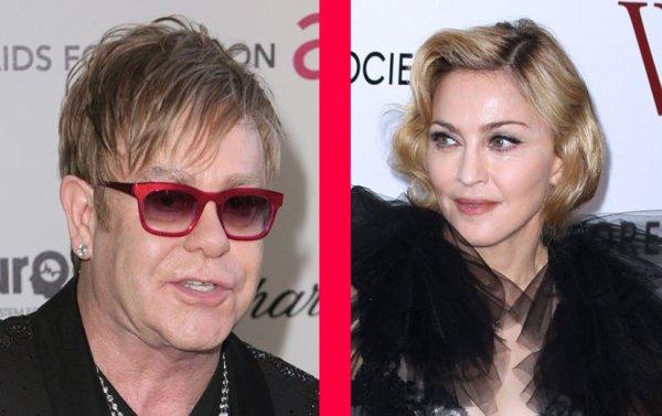 Madonna & Elton John: Les divas sont en guerre !