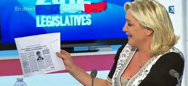 Encore un clash entre Marine Le Pen et Jean-Luc Mélenchon