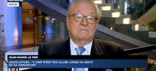 Jean-Marie Le Pen ironise sur François Hollande et Ségolène Royal