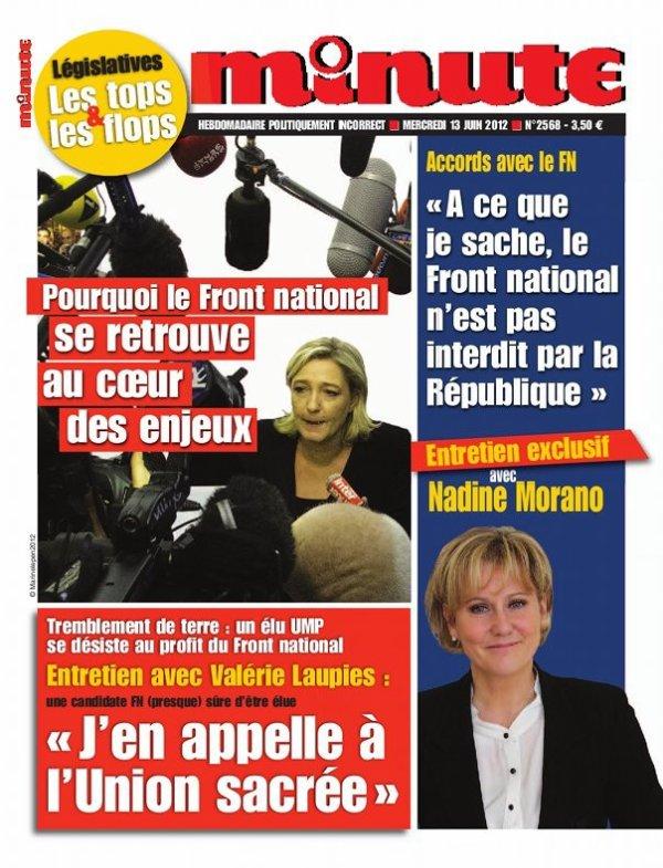 """Nadine Morano lance un appel aux électeurs du FN dans l'hebdomadaire """"Minute"""""""
