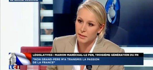 """Marion Maréchal Le Pen: """"Il y a une déconnection entre l'état major de l'UMP et l'électorat de base"""""""