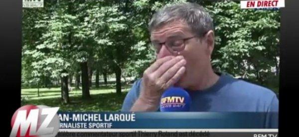 Décès de Thierry Roland: Jean-Michel Larqué en larmes sur BFM TV