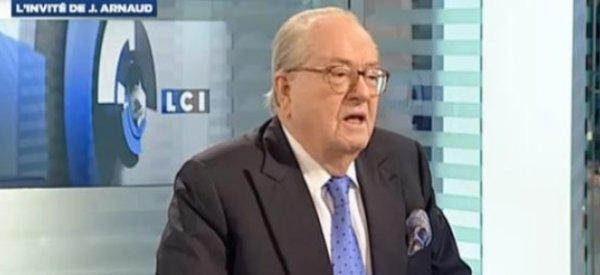 """Jean Marie Le Pen corrige ses propos où il traitait sa fille de """"petite bourgeoise"""""""