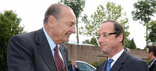 François Hollande est arrivé en Corrèze pour rencontrer Jacques Chirac