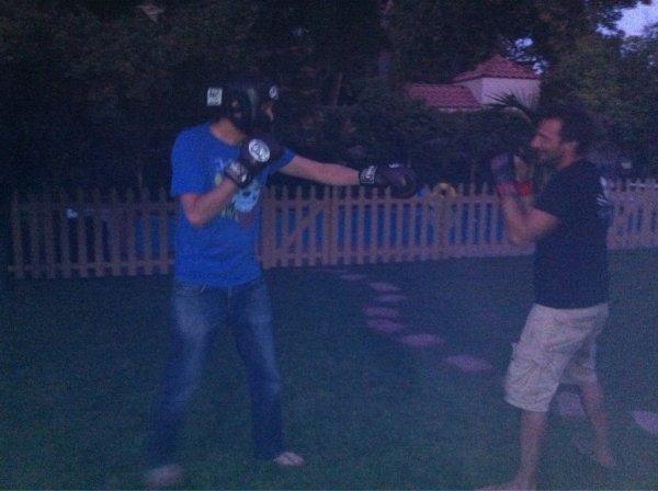 (Photo) Mathieu Kassovitz et Ramzy Bedia:  Le combat de boxe