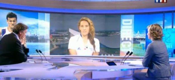"""JO 2012 : Camille Muffat s'est """"contrôlée sur le podium"""