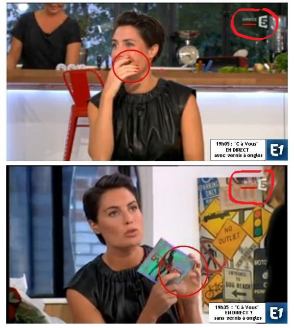 """Alessandra Sublet : Son faux direct dans """"C à vous"""" sur France 5"""