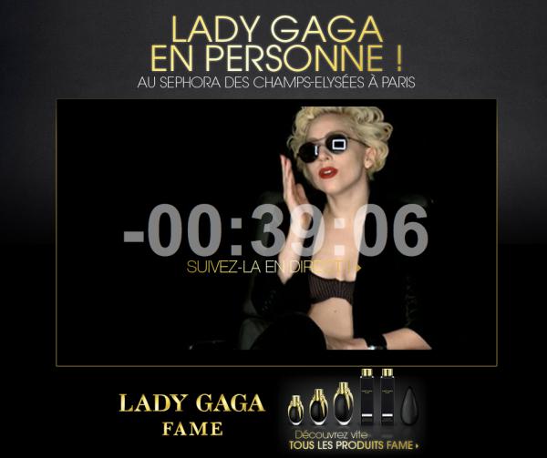 Lady Gaga : Suivez la en direct sur internet pour le lancement de son parfum depuis le sephora des Champs-Élysées