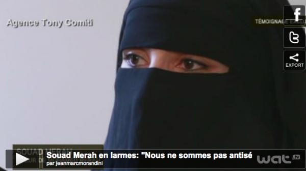 """Mohamed Merah : Sa s½ur Souad en larmes à la télé, """"Nous ne sommes pas antisémites, j'ai été piégée..."""""""
