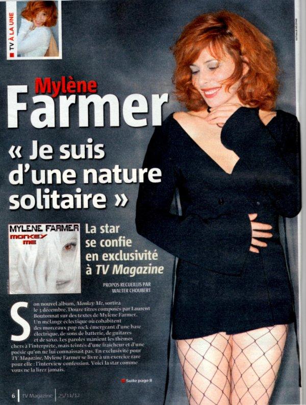 (Photos + Interview )Mylène Farmer: (Re)Découvrez sa dernière interview pour TV MAGAZINE