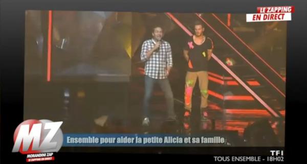 """( Vidéo) M Pokora: Il invite sur scène l'animateur Marc-Emmanuel pour le soutenir dans l'émission """" Tous ensemble"""" sur TF1"""
