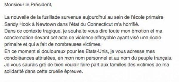 USA : François Hollande adresse une lettre à Barack Obama après la fusillade dans une école