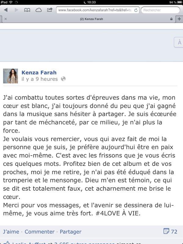 Kenza Farah: Elle met fin à sa carrière suite à son altercation avec Léa Castel