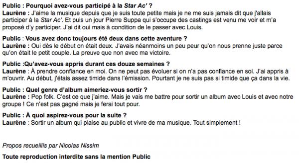 """Laurène : """"Je vais me battre pour sortir un album avec Louis et avec notre groupe !"""""""