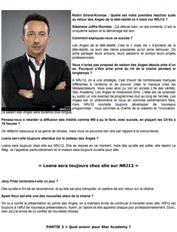 """Stéphane Joffre-Roméas: """" J'ai envie de confier de nouvelles choses à Ayem 3"""