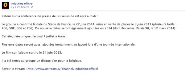 """Indochine: Découvrez le lyrics vidéo du titre """" College Boy"""" et écoutez l'annonce du Stade De France"""