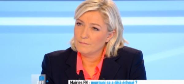 Marine Le Pen: Nouveau clash avec Anne-Sophie Lapix sur canal +
