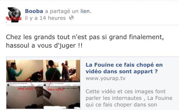 - Vidéo- Booba: Il diffuse une prétendue sexetape de La Fouine sur son Facebook et YouTube