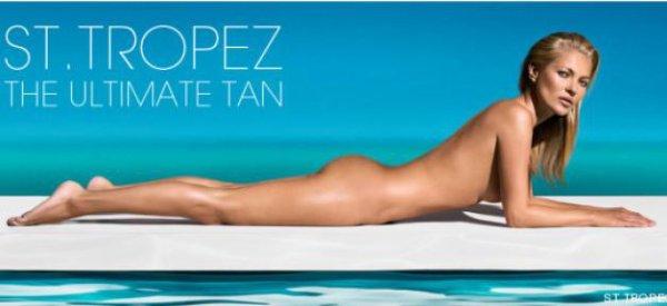 """-Vidéo- Kate Moss: Nue et sublime pour la marque """"ST.TROPEZ"""""""