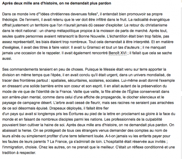 """Georges Buisson : Avec sa tribune, """"La religion du père, une histoire de paille et de poutre"""", il prend ses distances avec son père Patrick Buisson"""