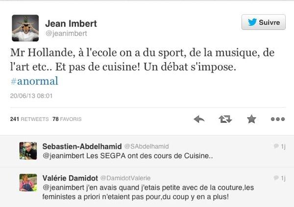 Jean Imbert: Il apostrophe François Hollande sur Twitter et réclame des cours de cuisine dans les écoles