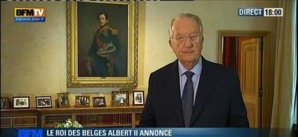 Albert II : Le roi des Belges vient d'annoncer sa démission en direct à la télévision belge