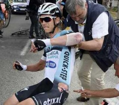 - Photo- Tour de France: Le cycliste Tony Martin publie une photo de lui nu, pour montrer ses blessures