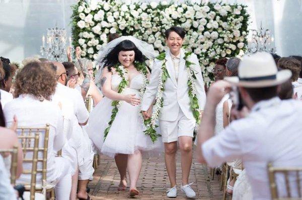 Beth Ditto: La star du groupe Gossip s'est marié avec Kristin Ogata