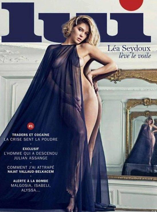 """Léa Seydoux: Découvrez l'actrice en Une du magazine de charme """"Lui"""" !"""