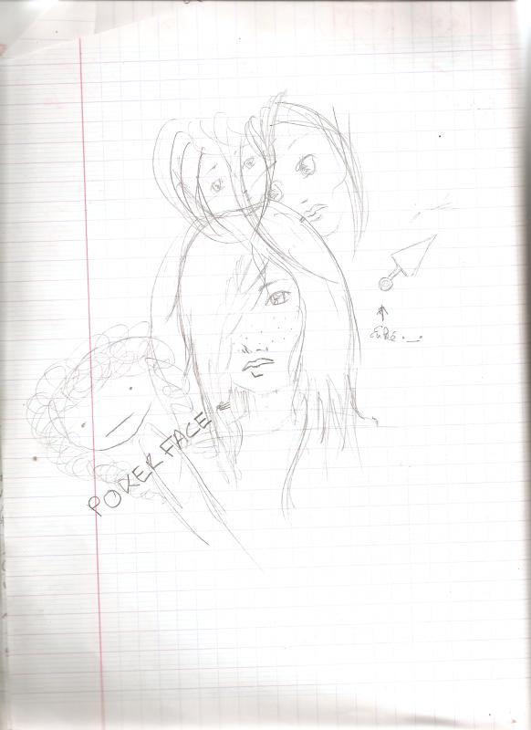 Mes dessins ..Quand je m'enquiquine en Allemand (ou en attendant ma mère !)