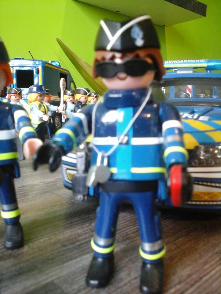playmobil custom gendarmerie