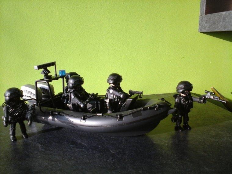 canot commando playmobil custom