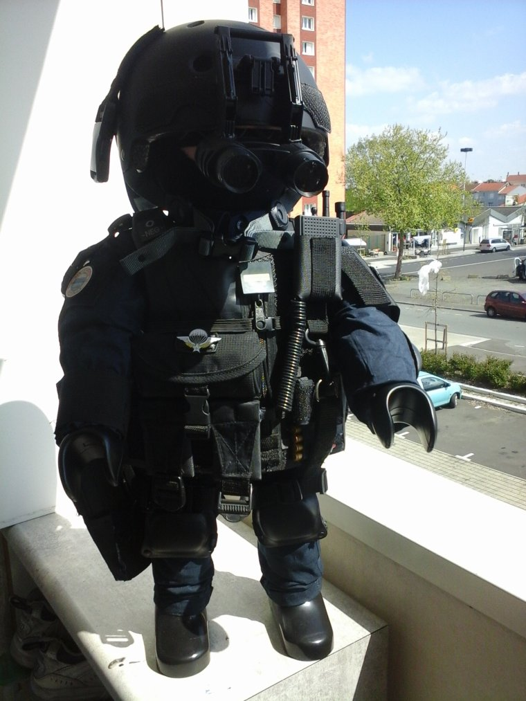 GIGN playmobil tenue d'intervention