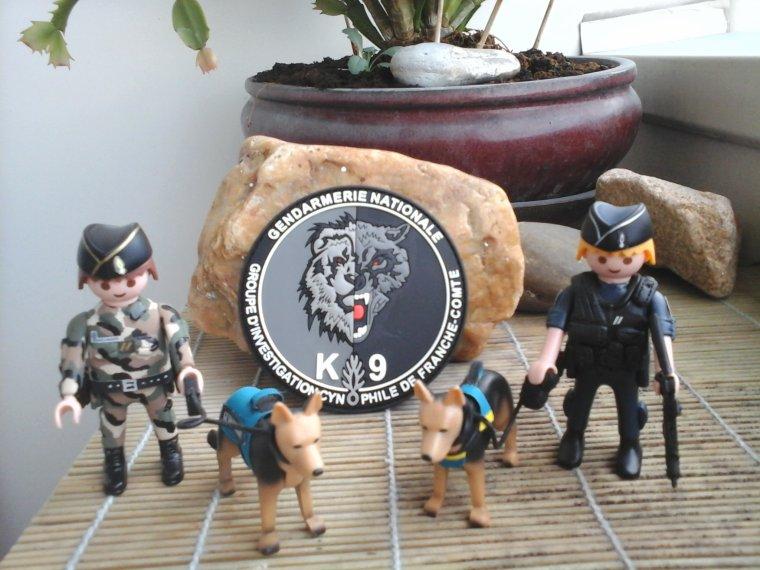 équipe cynophile de gendarmerie