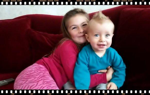 Ma fille Giuliana et mon fils Leandro (l)