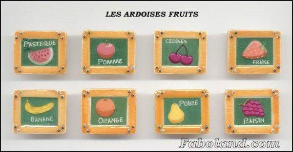 Série complète  Ardoises fruits  2007  Arguydal