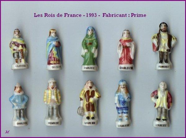 Mes doubles Série complète Les rois de France  1993  Prime