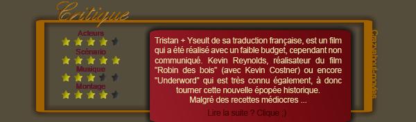 Tristan + Yseult de Kevin Reynolds avec James Franco, Sophia Myles et David O'Hara