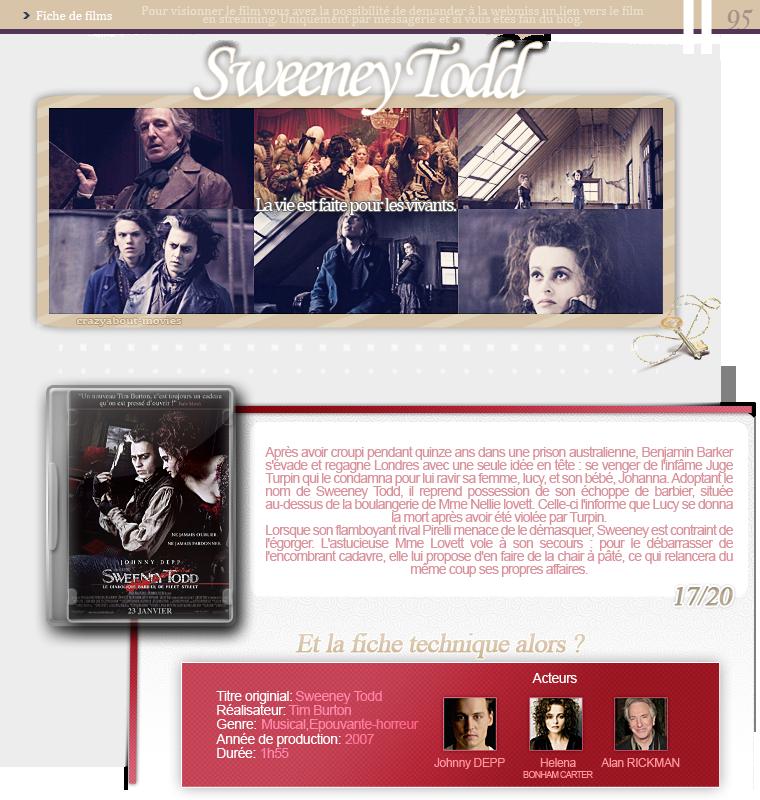 Sweeney Todd, le diabolique barbier de Fleet Street de Tim Burton avec Johnny Depp, Helena Bonham Carter et Alan Rickman