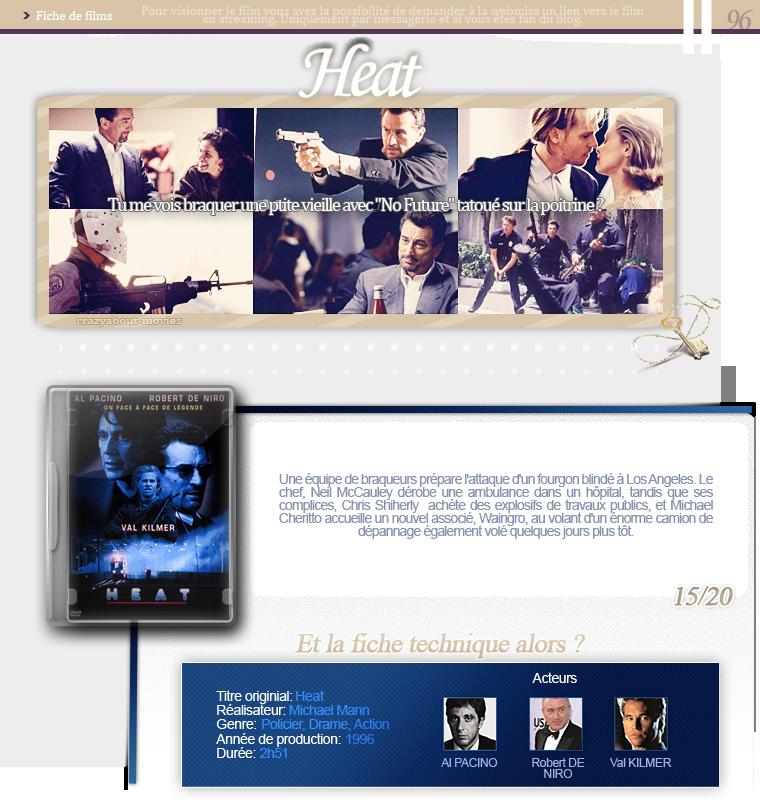 Heat de Michael Mann avec Al Pacino, Robert De Niro et Val Kilmer