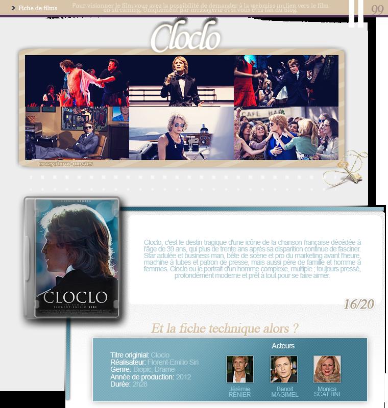 Cloclo de Florent-Emilio Siri avec